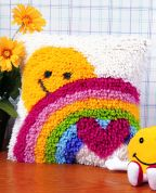 Caron WonderArt Latch Hook Rug Kit Sunshine Rainbow