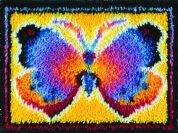 Caron WonderArt Latch Hook Rug Kit Butterfly Fantasy