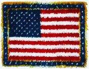 Caron WonderArt Latch Hook Rug Kit American Flag