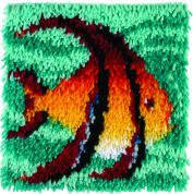 Caron WonderArt Latch Hook Rug Kit Angel Fish