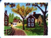 Caron WonderArt Latch Hook Rug Kit Country Cottages