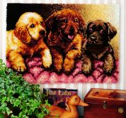Caron WonderArt Latch Hook Rug Kit Lab Puppies