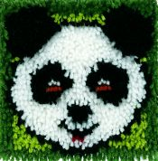 Caron Krafty Kids Latch Hook Rug Making Kit Panda