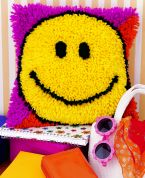 Caron Natura Latch Hook Rug Kit Smiley Face