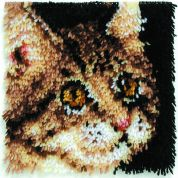Caron Natura Latch Hook Rug Kit Tabby