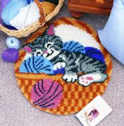 Caron WonderArt Latch Hook Rug Kit Cat Nap