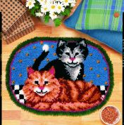 Caron Natura Latch Hook Rug Kit Cuddly Kittens