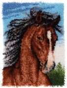 Caron WonderArt Latch Hook Rug Kit Wild Stallion