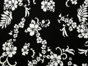 Loop Back French Terry Fabric  Black & White