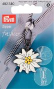 Prym Replacement Zip Fastener Puller Flower  White