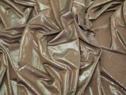 Shimmer Print Stretch Jersey Dress Fabric  Brown & Silver