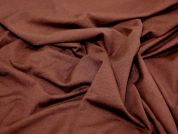 Plain Stretch Jersey Dress Fabric  Chocolate Brown