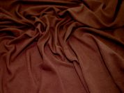 Textured Stretch Jersey Dress Fabric  Chocolate Brown