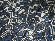 Batik Print Cotton Lawn Dress Fabric  Blue