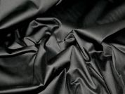 Stretch Cotton Sateen Dress Fabric  Black