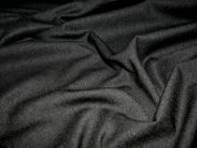 Polyester & Lycra Stretch Suiting Dress Fabric  Black