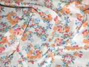 Floral Cotton Print Dress Fabric  Orange