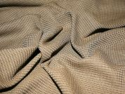 Tweed Wool Suiting Dress Fabric  Camel & Brown
