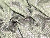 Jacquard Patterned Lining Dress Fabric  Silver