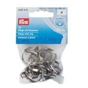 Prym Metal Curtain Rings  Silver