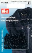 Prym Mild Steel Coat Hanging Chains  Black