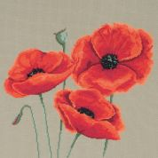 Maia Counted Cross Stitch Kit Poppies