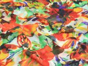 Semi Sheer Polyester Dress Fabric  Multicoloured