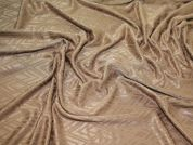 Patterned Stretch Jersey Dress Fabric  Antique Gold