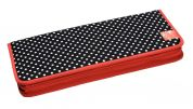 Prym Polka Dot Design Knitting Needle Pins Case  Black, White & Red