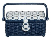 Prym Craft Storage Basket Box Blue Small