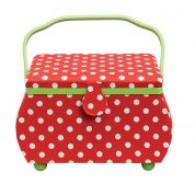 Prym Polka Dot Large Craft Storage Box  Red, White & Green