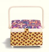 Prym Forest Print Medium Craft Storage Basket  Purple, Yellow & Brown