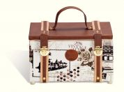 Prym Vintage Print Medium Craft Storage Case  Brown & White