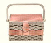 Prym Craft Storage Basket Box Country Medium Orange