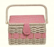 Prym Craft Storage Basket Box Country Medium Red