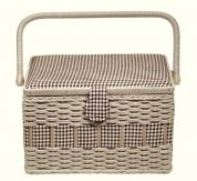 Prym Craft Storage Basket Box Country Large Brown