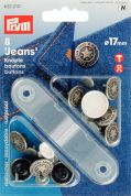 Prym American Star Jeans Buttons  Antique Silver