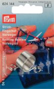 Prym Norwegian Style Metal Knitting Thimble with 2 Yarn Guides