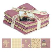 Gutermann Vero's World Country Chic Cottage Quilting Fabric Fat Quarter Bundle  Pink & Cream