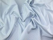 Gutermann Ring a Roses French Cottage Pattern Poplin Quilting Fabric  Light Blue