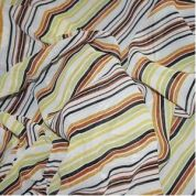Summer Stripe Print Georgette Dress Fabric  Multicoloured