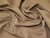 Lady McElroy Pinstripe Suiting Fabric  Camel