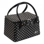 Creative Options Crafter's Tapered Tote White Dots on Black