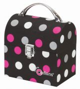 Creative Options Crafters Treasure Trunk Medium White Dots on Black