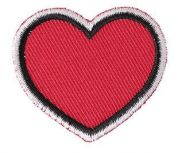 Rico Iron on Patches  Red