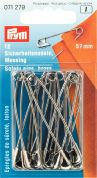 Prym Brass Metal Safety Pins  Gold
