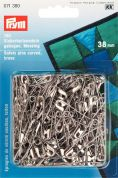 Prym Curved Brass Metal Safety Pins with Coil