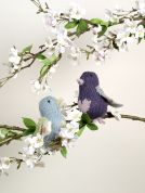 Erika Knight Lovebirds British Blue Knitting Pattern  DK