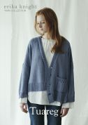 Erika Knight Ladies Tuareg Cardigan Studio Linen Knitting Pattern  DK