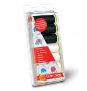 Gutermann Sew All Sewing Thread Set 100m  Black & White